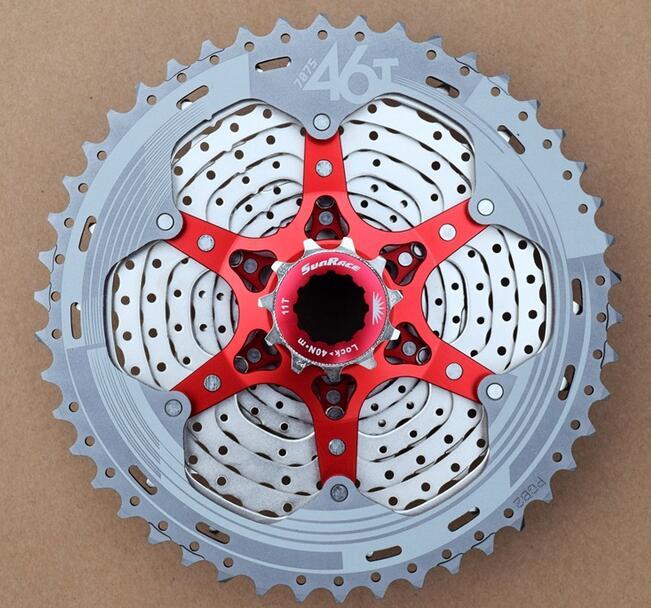 SunRace CSMX8 11-46T 11 Speed MTB  Cassette Freewheel Wide Ratio bicycle mtb freewheel Cassette 11-46T набор крем lumene valo 24h glow ritual