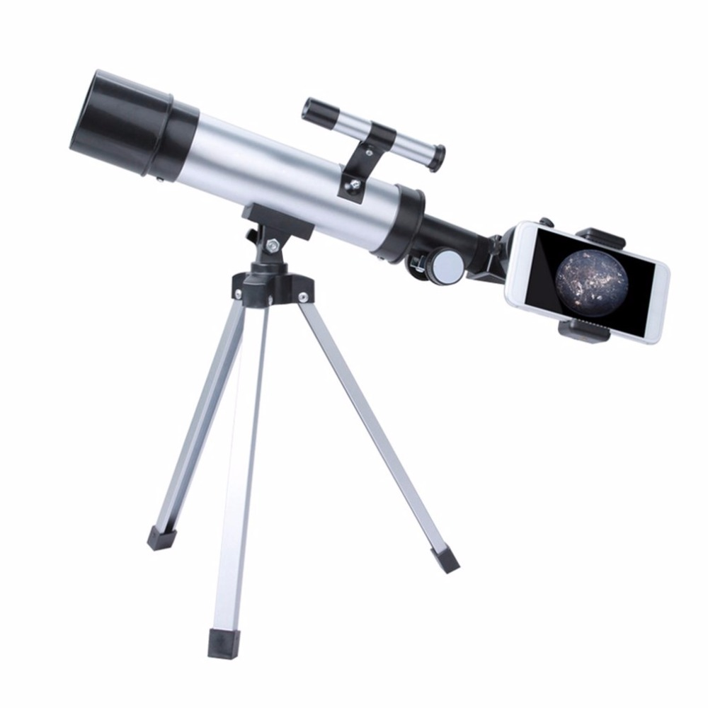 360/50mm Night Sight Monocular Telescope Refractor Scope Space Astronomical Telescope HD Outdoor With Tripod free delivery children with monocular space telescope 600 50mm