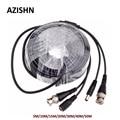 Кабель BNC для видеонаблюдения AZISHN, вилка постоянного тока для AHD/аналоговых камер видеонаблюдения, 5 м/10 м/15 м/20 м/30 м/40 м/50 м