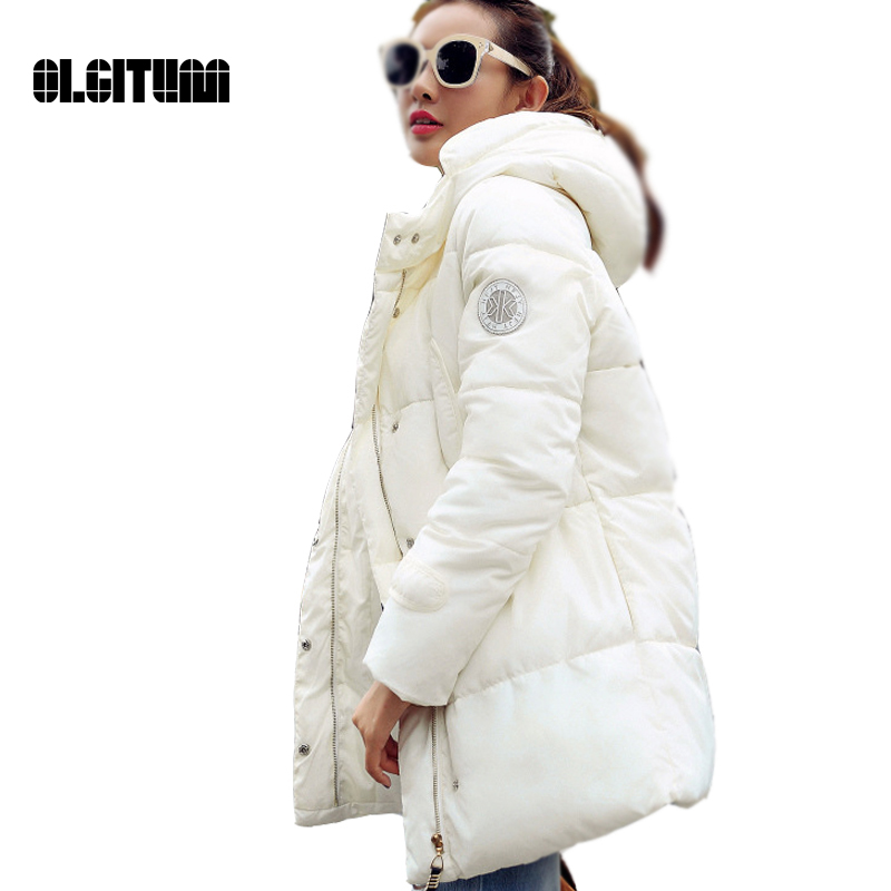 2016 New women s Fashion winter jacket In the long section wadded jacket silm parkas ladies