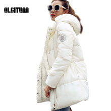 2017 New women s Fashion winter jacket In the long section wadded jacket silm parkas ladies