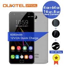 "Oukitel MTK6750T K6000 Plus Android 7.0 Octa Core 4G RAM 64G ROM 5.5 ""FHD 6080 mAh Huella Digital 12 V/2A de Carga Rápida Inteligente"