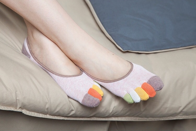 curto toe meias miss stealth algodão meias