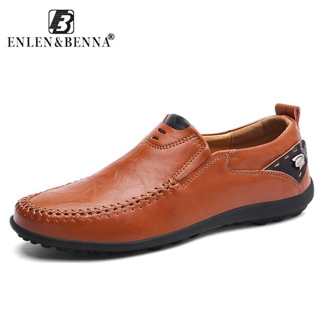 Nueva Marca transpirable mocasines hombres zapatos de cuero casuales Verano de alta calidad adulto Slip en mocasines hombres Zapatillas Hombre calzado 46