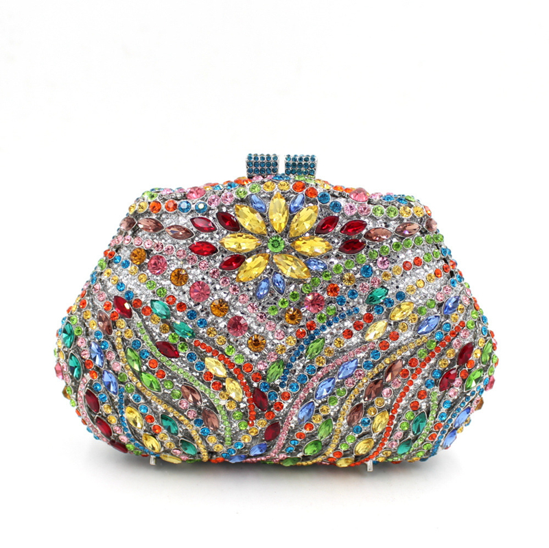 Femmes Bags Main Coloré Smyzh Sacs bags Paquet Scintillant À Sac Cristal Luxe Qualité De Parti Diamant Dîner e0094 D'embrayage Haute Dames 5qRHEZwq