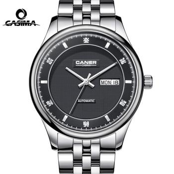 CASIMA Brand Week Date Mechanical Watches Men Sapphire Crystal Business Automatic Wrist Watch Clock saat Relogio Masculino