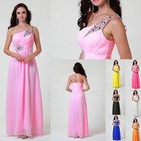 Zj0002 Королевский синий цвет розовый темно-зеленый одно плечо Beadings нарядное платье макси плюс размер модное дизайн