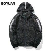 BOYUAN 2017 Autumn Men S Camouflage Coat Mens Hoodies Casual Jacket Brand Clothing Mens Windbreaker Coats