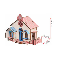 DIY Model toys 3D Wooden Puzzle Chocolate Cottage Wooden Kits Educational Puzzle Game Assembling Toys Gift for Kids P3 цены онлайн