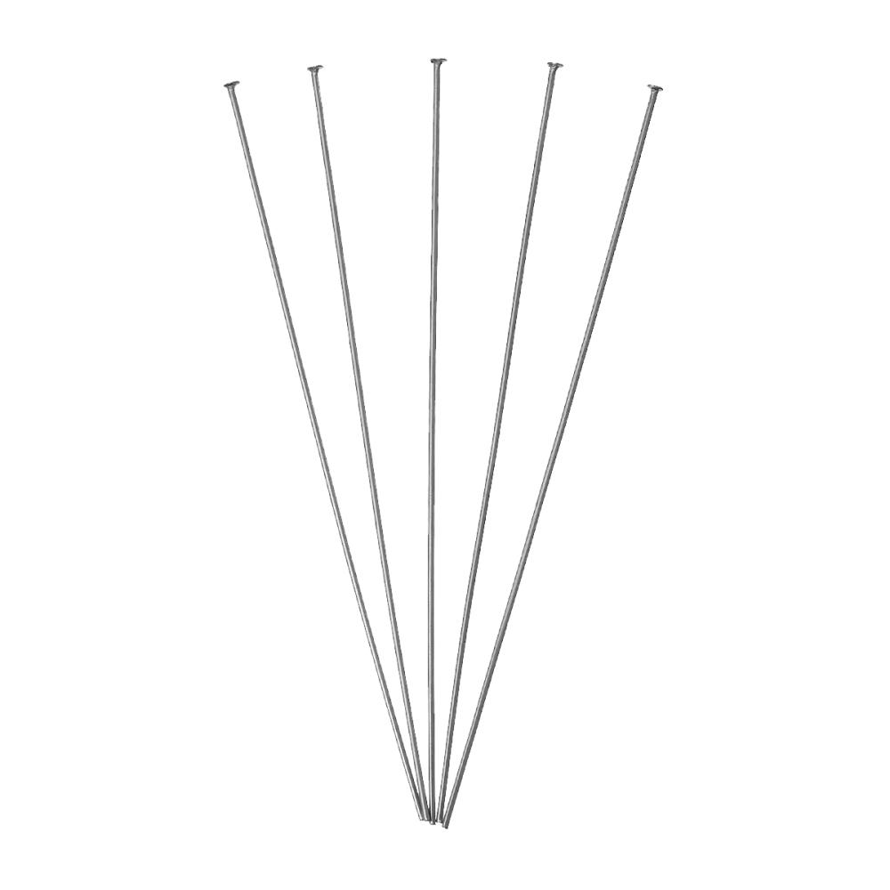 DoreenBeads Stainless Steel Head Pins Dull Silver Color For Jewelry Making Jewelry Accessories 7.5cm Long,0.7mm(21gauge,)200 PCs