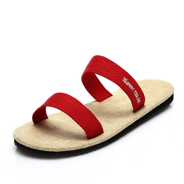 2016 Men Sandals Outdoor Gladiator Casual Fashion Shoes Summer Shoes for Men Fashion Beach Slippers Hemp Shoes Plus Size 40-44