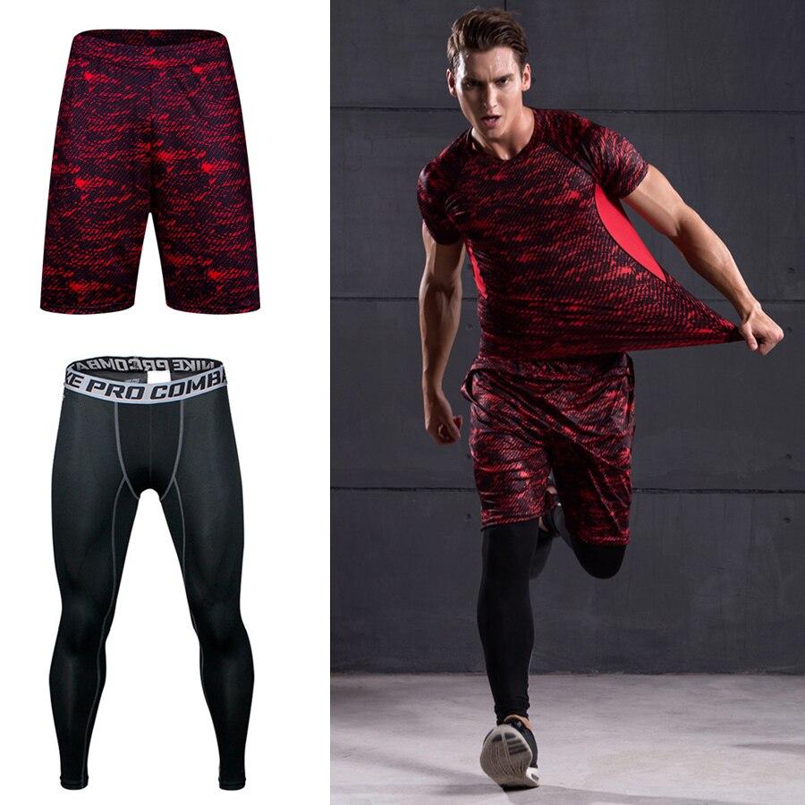 a1b1e3c79 Cheap Pantalones de compresión para hombre dos piezas Bodybuilding Jogger Leggings  de baloncesto ropa deportiva mallas