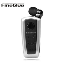 Original Fineblue F910 Bluetooth Earphone Business Collar Wear Clip Hands Free Earbud Vibrating Alert Call Reminder Headset hot original fineblue f910 wireless bluetooth earphone headset in ear vibrating alert wear clip bluetooth earphone for phone