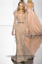 2016 Zuhair Murad Design Abendkleid Luxus Nixe Langarm Kleider Cocktail Party Robe De Soiree MY1109-25