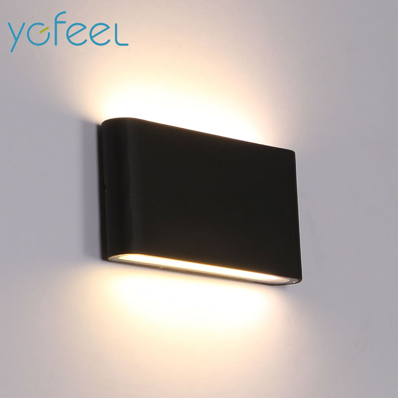[YGFEEL] Outdoor Waterproof Wall Lamp IP65 6W/12W LED Wall Light Indoor Decoration Bedroom Beside Lamp Corridor Garden Lighting modern waterproof cube cob led light wall lamp home lighting decoration garden outdoor indoor wall lamp aluminum 6w 12w ac 220v