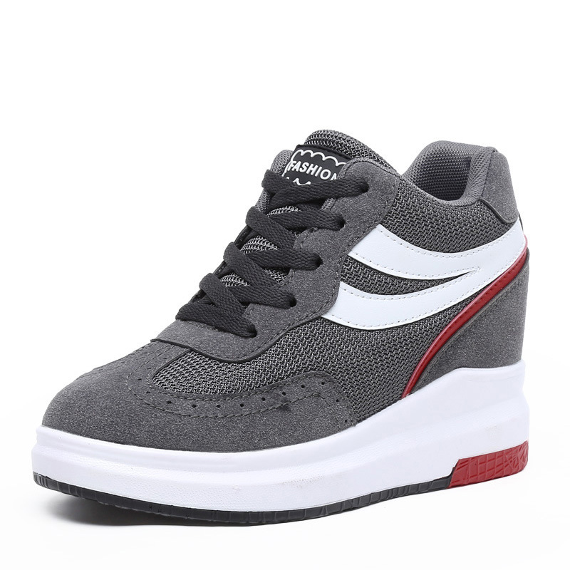 Spring Outdoor font b Sneakers b font Increased Shoes Non slip Wear Thick Platform Shoes Comfortable