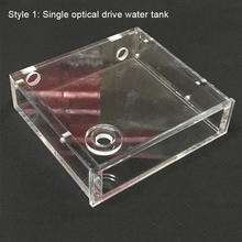شفافة الاكريليك الكمبيوتر مبرد مياه خزان المياه المبرد كتلة المياه درجة الحرارة عجلة CD ROM محرك واحد خزان المياه