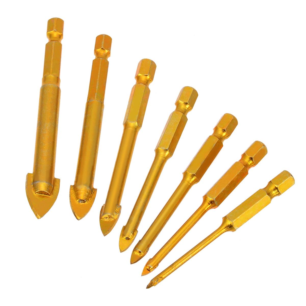 QUALITY TILE//GLASS CERAMIC DRILL BIT 4mm x 75mm Hex Shank Tungsten Carbide Tip