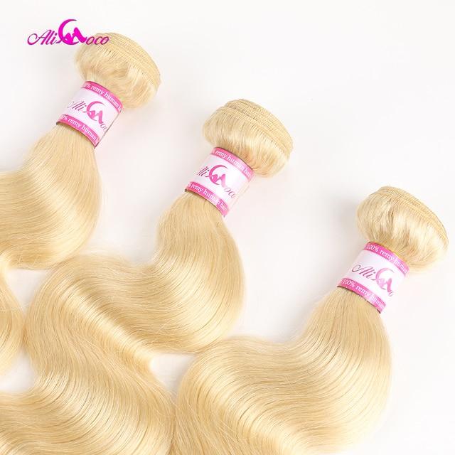 Ali Coco cuerpo brasileño ondulado 613 pelo rubio 1/3/4 ofertas de extensiones 100% mechones de cabello humano postizo 8-30 pulgadas extensiones de cabello Remy