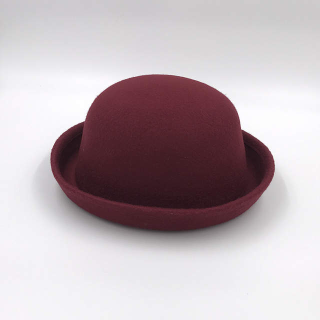 b652d82f69a Online Shop Retail Little girls fedora hat Dome cap Children dress hats  Kids caps felt hats wool felting Bowler hat