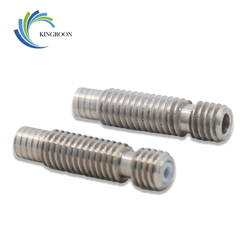 New V5 Stainless Steel Throat M6*26 Thread Hot End For 1.75mm 3mm Filament 3D Printers Parts All Metal With Teflon Tube Part