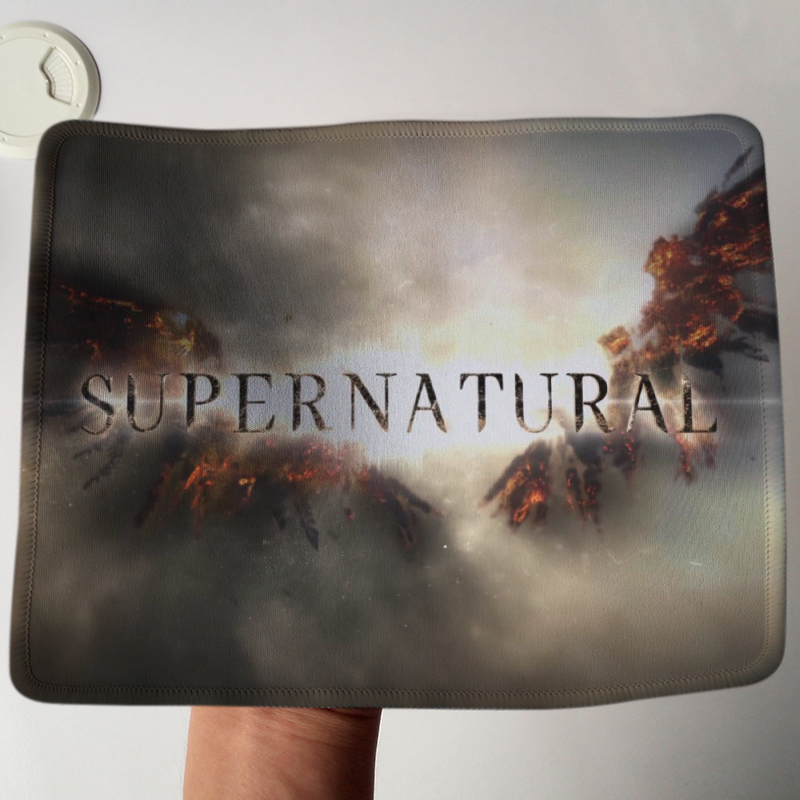 Hot Sale Supernatural Gaming Mouse Pad Stitched Edge Rubber Mousepad Gamer Mice Play Mats As Gifts Wholesale