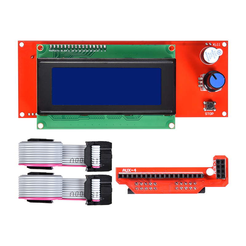 2004 LCD Display 3D Printer Reprap Controller Ramps 1.4 LCD 2004 Module With Adapter Cable 2004LCD Panel For 3D Printer Parts2004 LCD Display 3D Printer Reprap Controller Ramps 1.4 LCD 2004 Module With Adapter Cable 2004LCD Panel For 3D Printer Parts