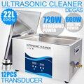 Цифровой ультразвуковой очиститель 22л 720 Вт Таймер нагревателя SUS304 Ванна 40 кГц Sonicator обезжиривающая плата детали двигателя масляный фильтр