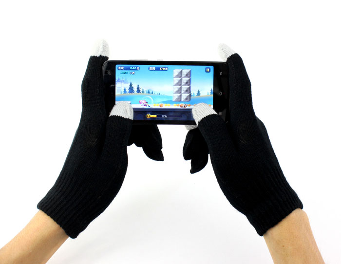 Touch Screen Gloves Women Men Warm Stretch Mittens Unisex Touch Screen Gloves Texting Smartphone Iphone Winter Knit BlackY418