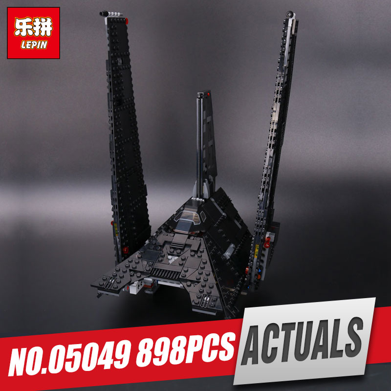Lepin 05049 863pcs 2017 Star Series The Shuttle Educational Building Blocks Bricks Funny War Toys Compatible with 75156 for Gift new 863pcs lepin 05049 star war series 75156 the imperial shuttle building blocks bricks toys compatible with lego gift kid set