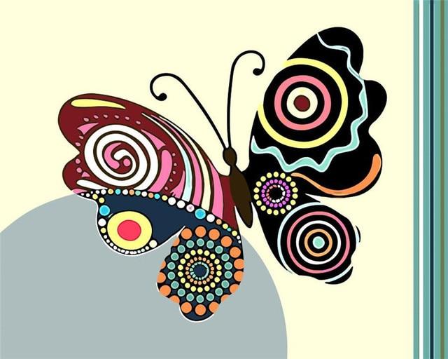 Us 862 49 Offrahmenlose Bunte Blume Und Schmetterling Diy Malen Nach Zahlen Kits Farbe Malen Nach Zahlen Mit Holzrahmen Für Einzigartige Geschenk