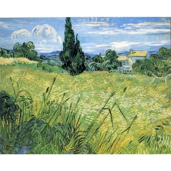 High quality Vincent Van Gogh paintings Green Wheat Field with Cypress oil on canvas hand-painted Home decor