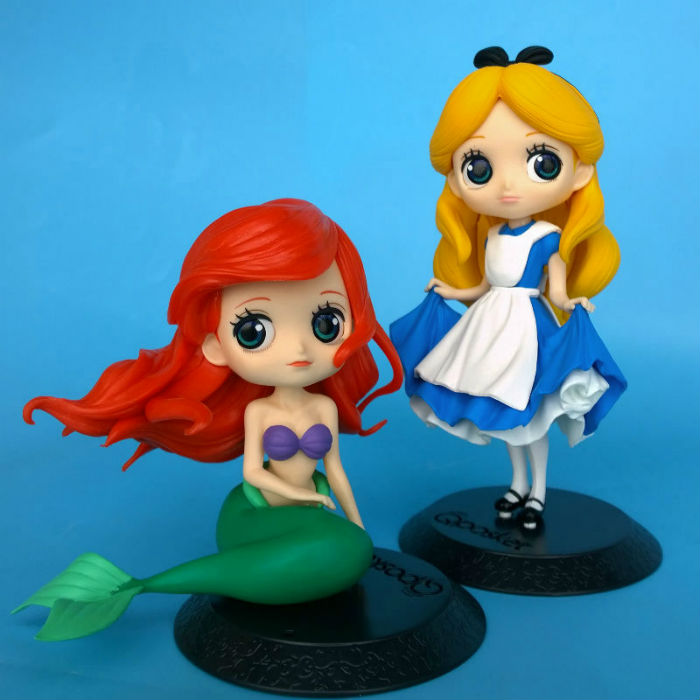11cm-16cm pvc Cartoon Alice in Wonderland Alice Mermaid Ariel Snow White Qposket PVC Action Figure Anime Dolls best kids toys fo alice q posket characters alice alice in wonderland pvc figure collectible model toy doll 15cm