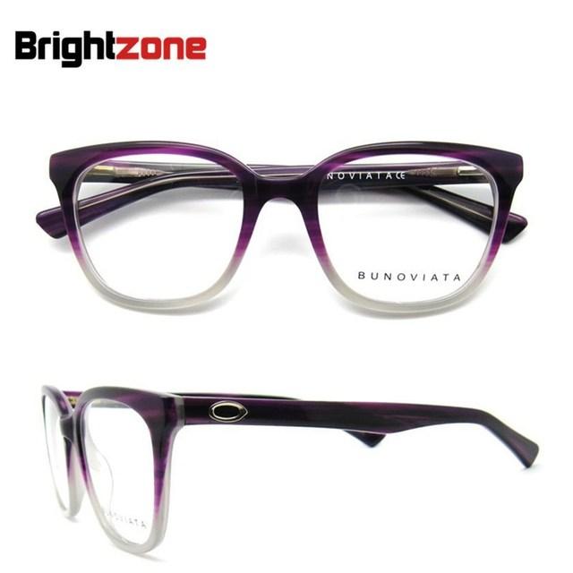 Hot Sale 2016 New Design Listrado Moda Acetato Frame Ótico Oculos de Grau Feminino Vermelho Mulheres Armações de Óculos Preto B40220