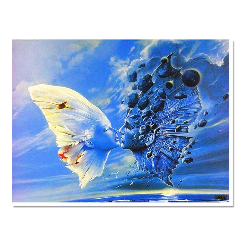 direct selling 2017 diamond embroidery modren resin Paintings scenic full square handmade home decoration