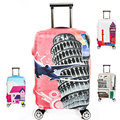 Travel on Road Elastic Luggage Protective Cover For Trunk Case Apply to 18''~32'' Suitcase Thick, Travel Accessories