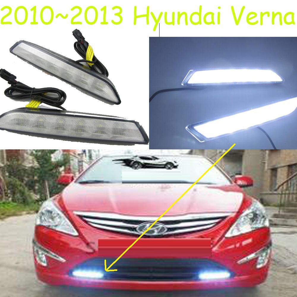 Фотография LED,2011~2013 verna daytime Light,solaris,verna fog light,verna headlight,accent,Elantra,Genesis,i10,i20,verna taillight