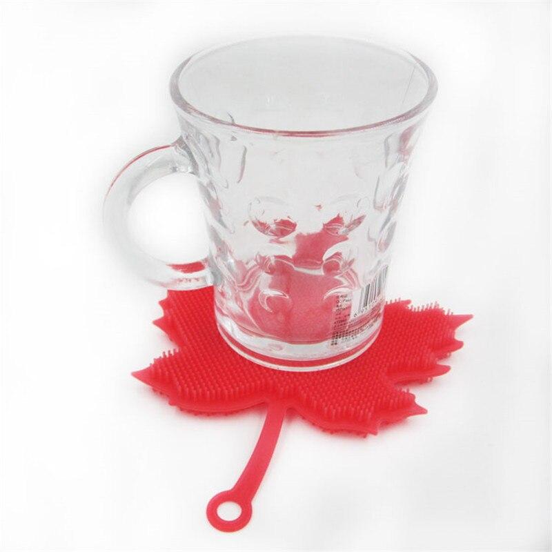 De alta Calidad Creativa de Silicona Cepillo De Limpieza Taza de Café Estera Alm