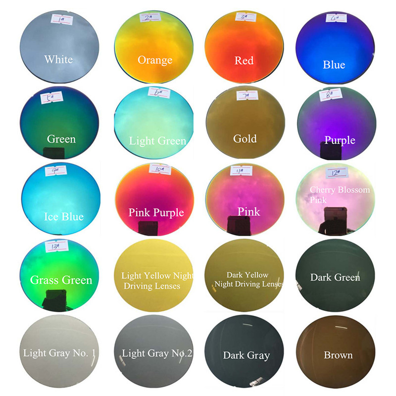 Polarized 1.56 Ευρετήριο Αντι-Αντίσταση Αντιθαμβωτικό Έγχρωμο φακό Μυωπία Γυαλιά ηλίου Οπτική συνταγή Γυαλιά Φακοί συνταγών