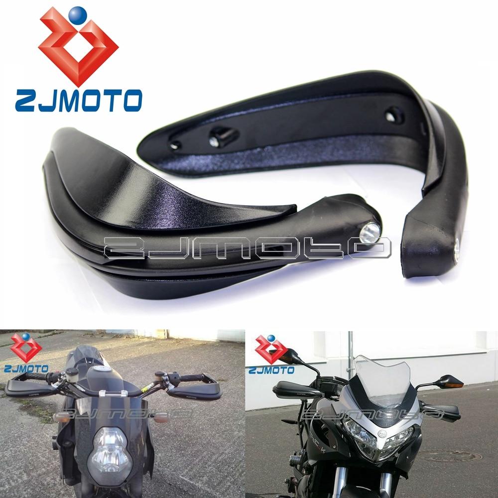 Prix pour ZJMOTO Chaude Mat Noir Universal Moto Motocross en Dirtbike MX VTT Gardes-main Pour Double Route Garde-Livraison Gratuite