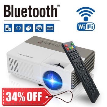 Portable mini Home Audio & Video Projectors Android WiFi Bluetooth Beamer LED Home Theater Cinema  Proyector HD 1080P Video Проектор