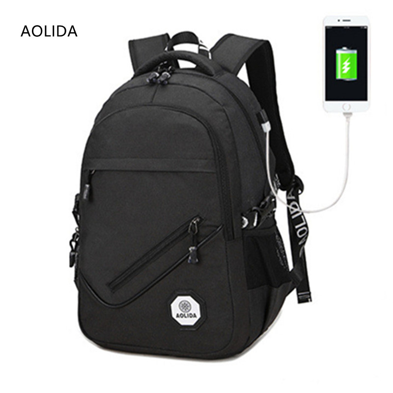 aolida brand men 39 s external usb charge backpack sac a dos waterproof oxford 15 inch laptop urban. Black Bedroom Furniture Sets. Home Design Ideas