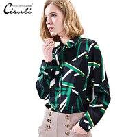 CISULI 100% шелк тутового Блузки Женская Рубашка шелковая сатиновая Блузка женская с длинным рукавом плюс размер S 5XL