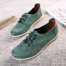 2016 New Fashion Flats Shoes Women Vintage Casual Round Toe Shoes Soft Genuine Leather Original Handmade Shoes Women 35-40 1680