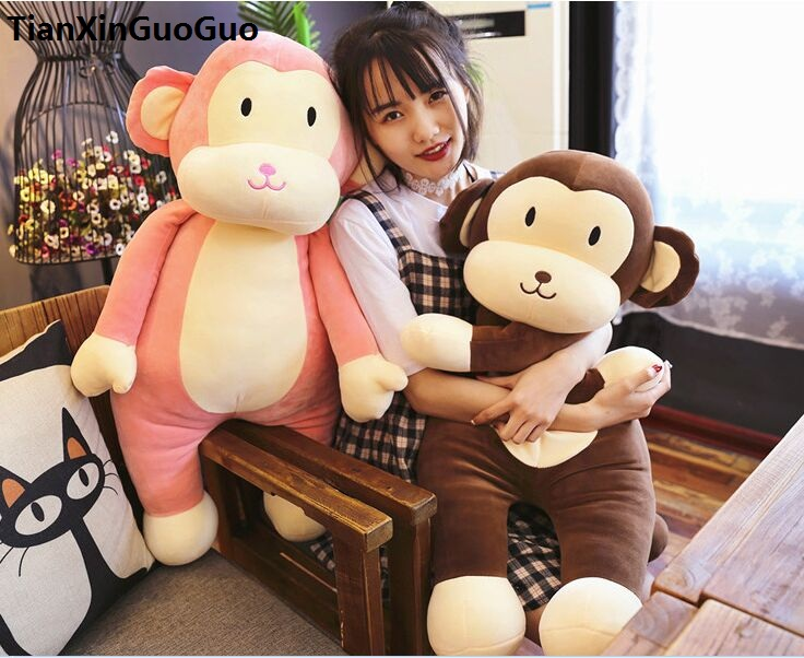 stuffed fillings plush toy about 80cm cartoon monkey plush toy doll soft throw pillow birthday gift b0929 70cm lovely monkey plush toy cici monkey doll throw pillow birthday gift w6290