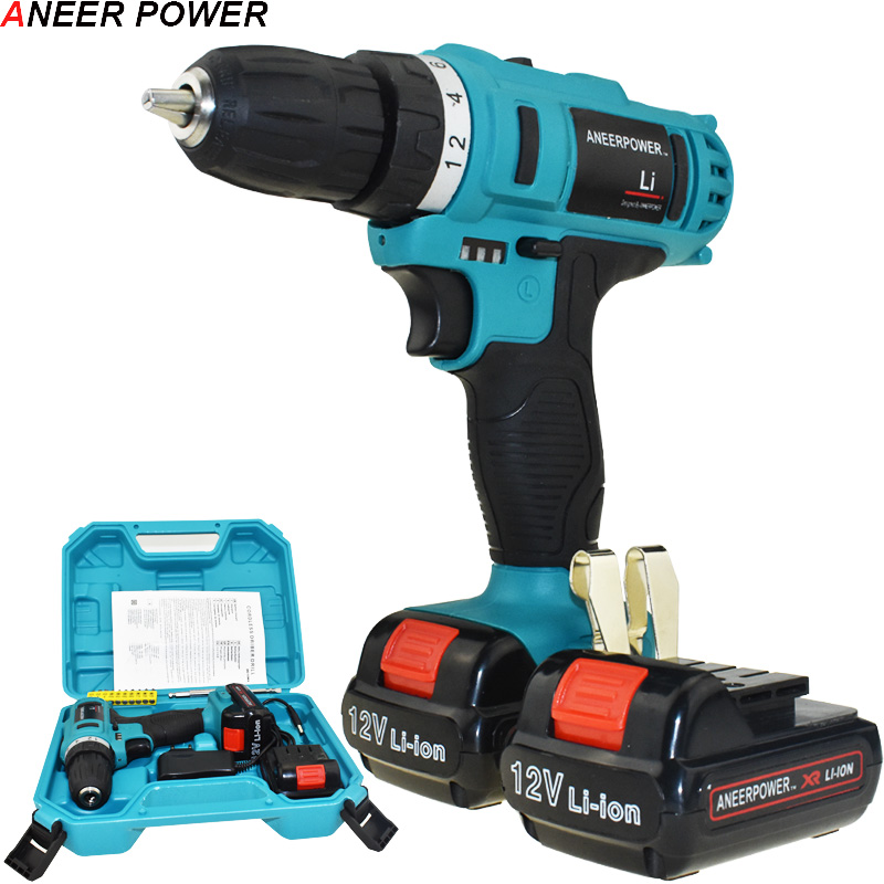 цена на 12v Multifuctional Batteries Screwdriver Cordless Drill Power Tools Electric Screwdriver Battery Capacity Drill Electric Drill