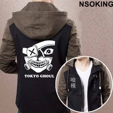 2017 New Spring Autumn Tokyo Ghoul Hoodie Fashion Anime Kaneki Ken Cool Coat Men zipper Jacket