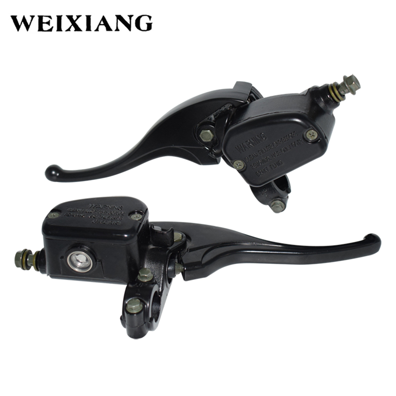 Universal 7/8 22mm Front Left Right Motorcycle Hydraulic Brake Pump Master Cylinder Black Disc Brake Lever For Polaris ATV shimano slx bl m7000 m675 hydraulic disc brake lever left right brake caliper mtb bicycle parts