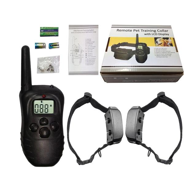 Pro 2 psy 998D 2 psi Re Control pes kůra zastavit límec elektrický šok zařízení ošetření prstenec zastavit Dog Training Collar