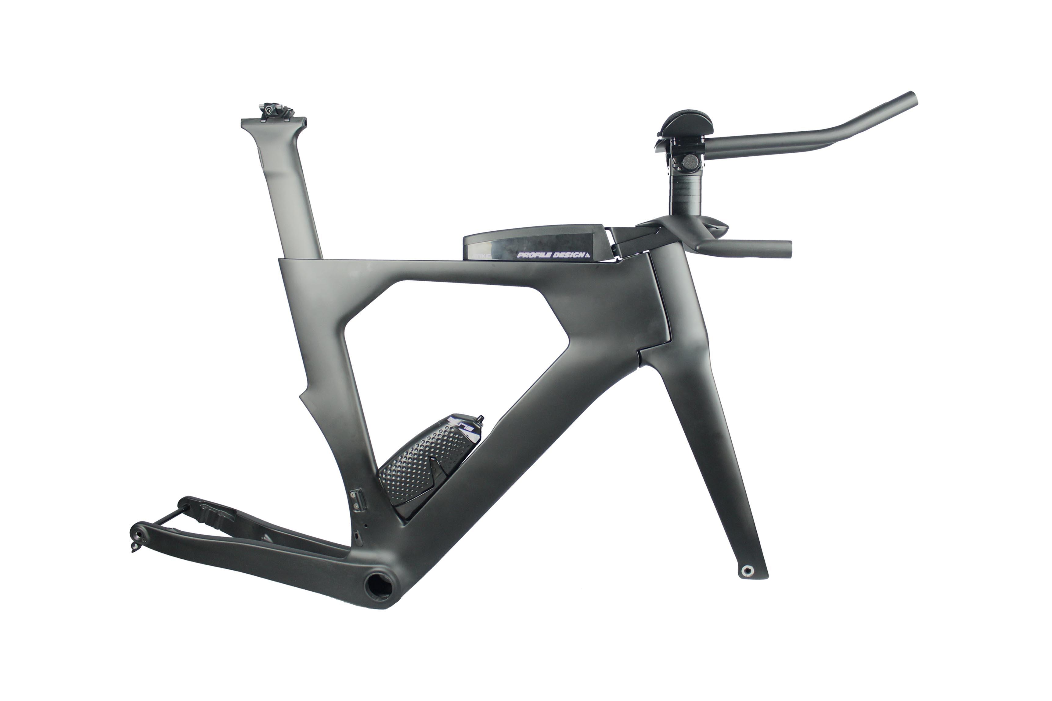 Miracle New Design Full Carbon TT Bike Frameset Disc Triathlon Carbon Bicycle Frame, Flat Mount Disc Time Trial Frame
